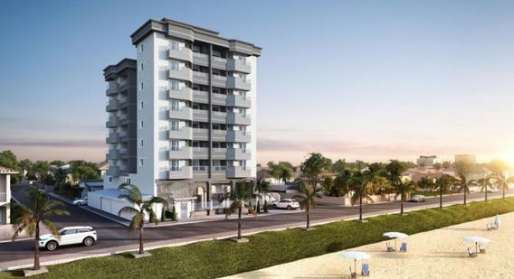 Apartamento Frente Para O Mar, Com 1 Suíte + 2 Dormitórios, 2 Vagas De Garagem, Próximo Ao Centro, Praia Do Tabuleiro, Barra Velha/sc - 3578882