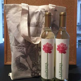 2 Vinos La Puerta Dulce Natural+bolsa Personalizada=regalo!