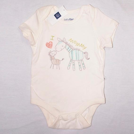 Body Manga Curta Menina Gap Baby