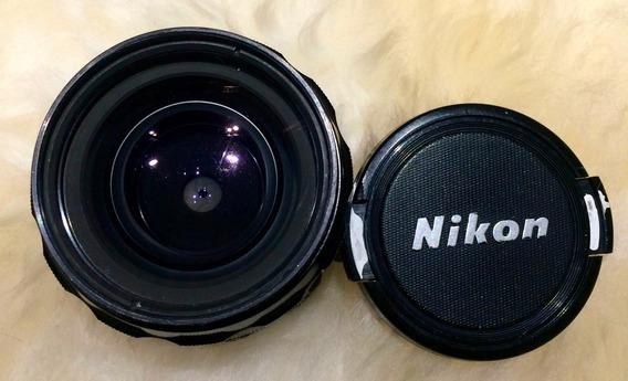 Lente Nikon 28mm F/3.5 Nikkor Excelente Foco Manual