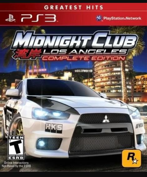 Vendo Midnight Club Ps3