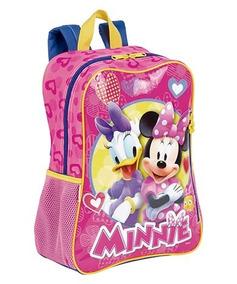 Mochila Infantil Escolar Minnie Margarida Disney 64986 + Nfe