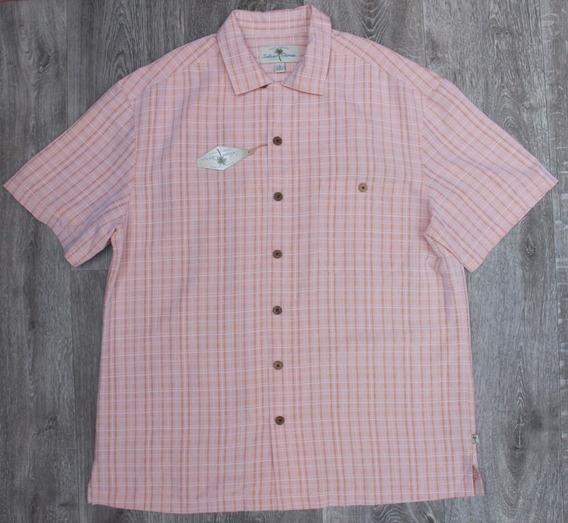 Camisa Manga Corta Talla Large Tipo Guayabera Fresca Ligera