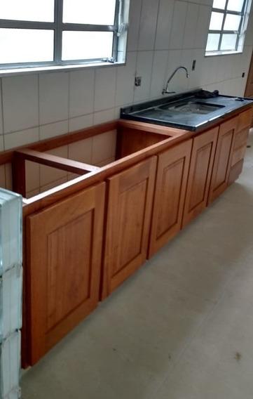 Balcão Cozinha Em Angelim Fundo P.u Sob Encomenda