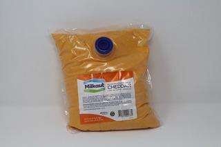 Queso Cheedar Liquidó Milkaut X3,50kg Apto Celiacos