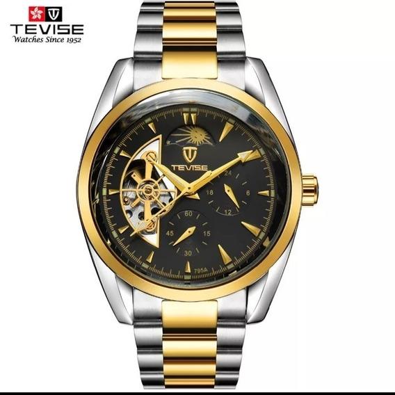 Relógio Masculino Barato Original Fases Da Lua Luxo C.111