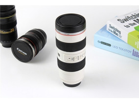 4x Copo Caneca Lente Branco Ef 70-200mm