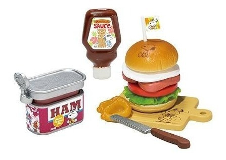 Re-ment Miniatura Snoopy Culinária 2 Hamburger Barbie