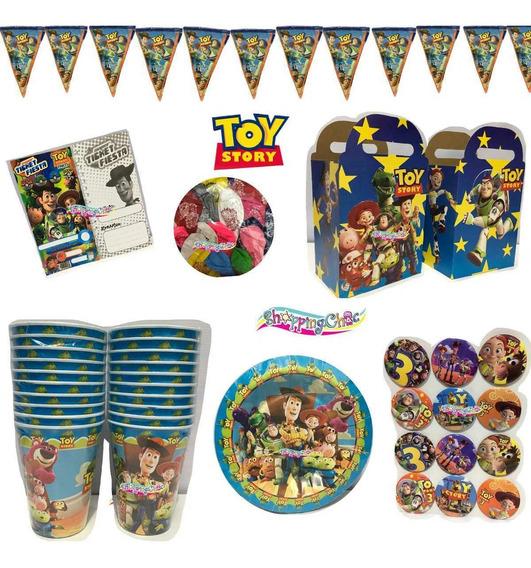Toy Story Buzz Arts Fiesta Globos O Platos O Dulceros O Vaso