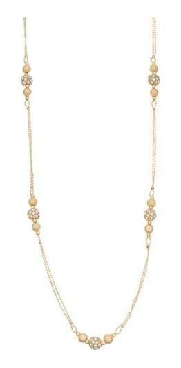 Collar Y Aretes Set Metal Dorado Bisuteria Americana Kohls