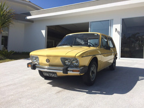 Volkswagen Brasilia Placa Preta Com Manual E Nf 1980