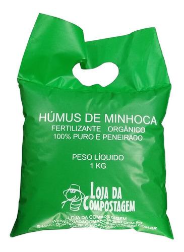 Adubo Fertilizante Orgânico Húmus De Minhocas 1kg
