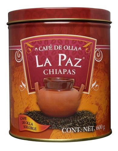 Café De Olla Soluble La Paz Chiapas Lata 600 Gr 100% Natural