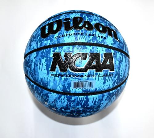 Imagen 1 de 3 de Balón Wilson Basquetbol Ncaa Composite Camo Azul Medida 7