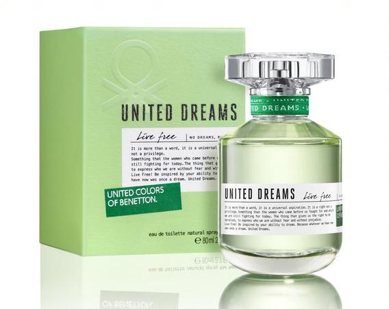 Perfume Feminino Benetton United Dreams Live Free 80ml