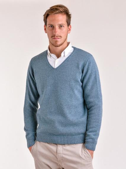 Sweater Escote En V Hilado Cardado Mauro Sergio !