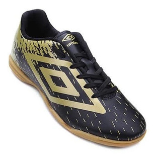 Chuteira Futsal Masculina Umbro Acid 800703 Black Rich Gold
