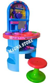 Tocador Infantil Set Belleza Maquillaje Juguete New Plast