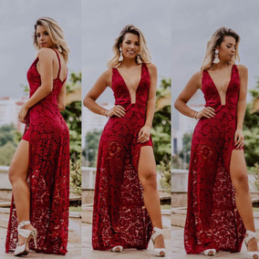 fee1dbaf9c Vestido Vermelho Renda Tule De Festa Longos Feminino - Vestidos ...