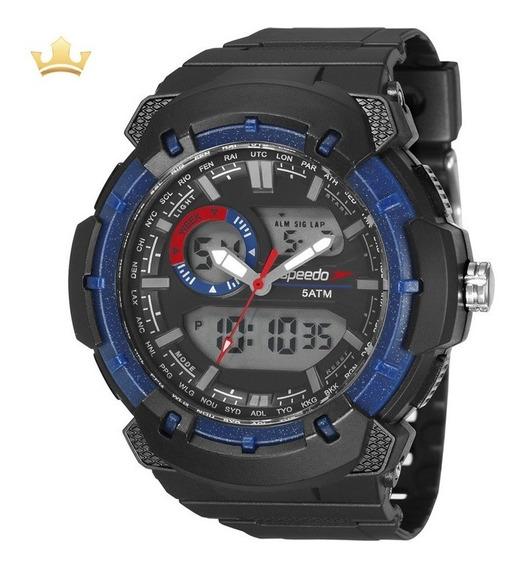 Relógio Speedo Masculino 81184g0evnp2 Com Nf