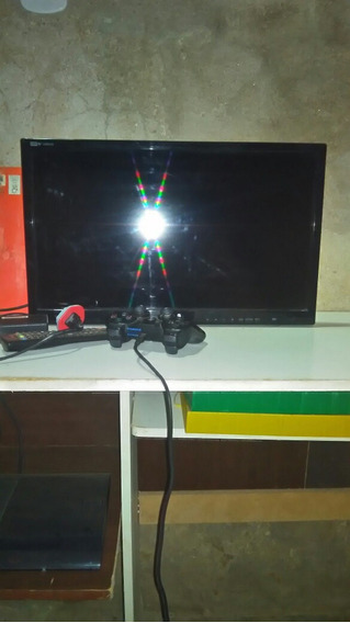 Playstation 3 Com Um Controle Mais 7jogos Físicos E Tv Lg 24