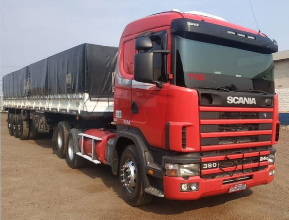 Scania R124 360 6x2 2004 + Carreta Ls Noma 2002 Graneleiro