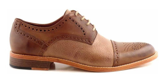 Zapato Vestir Hombre Cuero Briganti Picado Premium Hcac00912