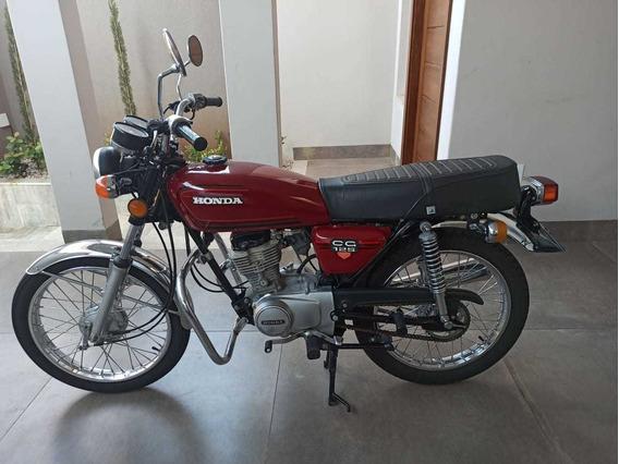 Honda Cg 125 1982 Bolinha Original Apta Placa Preta Coleção