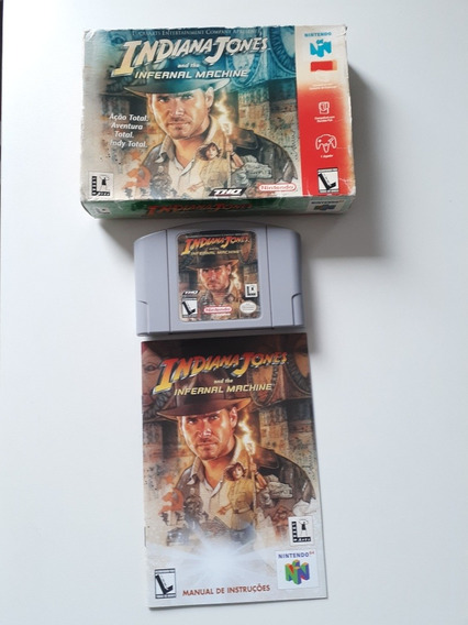 Jogo Indiana Jones Infernal Machine(nintendo 64)