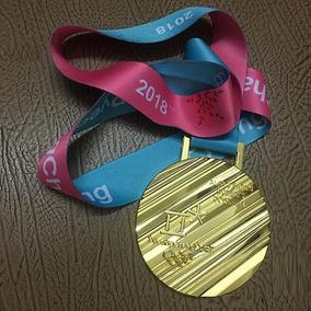 Medalha Jogos Olímpico Inverno Pyeongchang 2018 Modelo Ouro