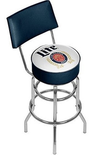 Marca Gameroom Retro Miller Lite Giro Taburete De Bar Con Re