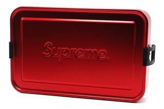 Supreme Sigg Large Metal Box Plus Red Caja De Almacenamiento