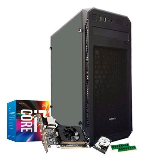 Cpu Intel 7ª Geração I7 7700, Gf 2gb 710 Gt, 32gb, 1tb + Nfe