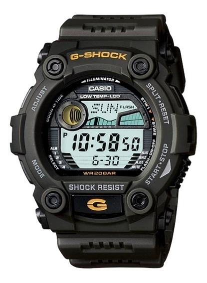 Relógio Casio - G-shock G-7900-3dr - Tábua De Maré E Lua