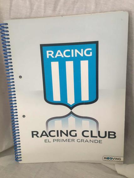 Cuaderno Universitario Racing Club A4 Oficial