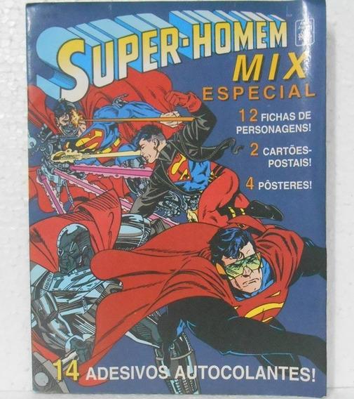 Super-homem Mix Especial - Com Adesivos, Pôsteres E Postais