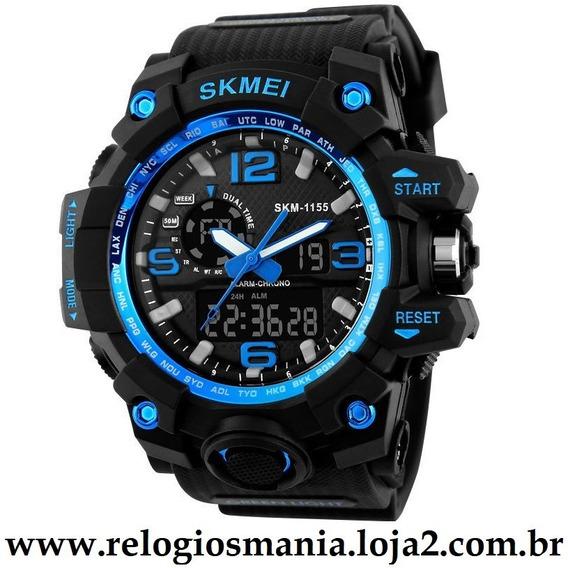 Relógio Masculino Esporte Skmei 1155 Azul