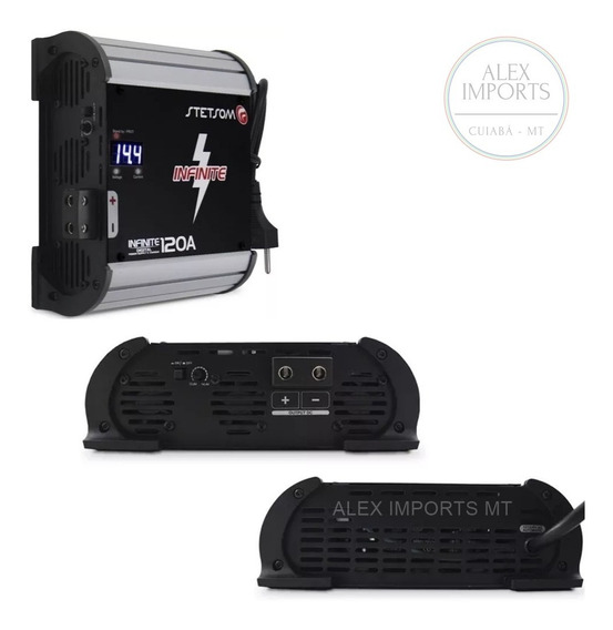 Fonte Automotiva Stetsom 120a 14.4 Bivolts Digital Alex Mt