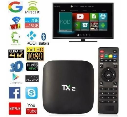 Tv Box Tx2 Conversor Digital Smart Tv Android C/ Bluetooth