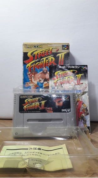 Street Fighter 2 Super Famicom Completo Original