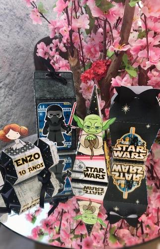 Kit Personalizados Star Wars - 40 Itens