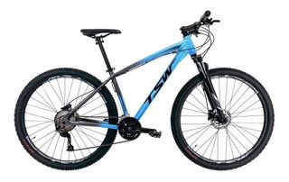 Bicicleta Tsw Hunch Plus Aro 29/ 27v Azul/cinza - Tam. 17-19