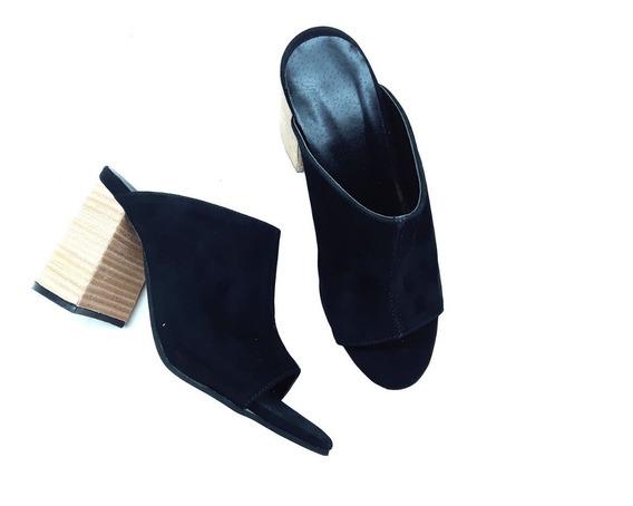 Sandalias Mujer Suecos Zapatos Plataforma Cuero Verano 2019