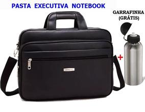 Pasta Executiva Notebook Couro Sintético + Garrafinha
