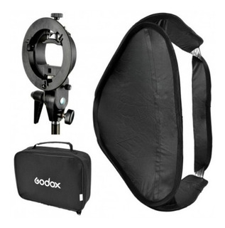 Soft Box Plegable/colapsable Marca Godox 60x60 Cm P/flash De Zapata Con Rótula Stype Y Bolso Para Transporte