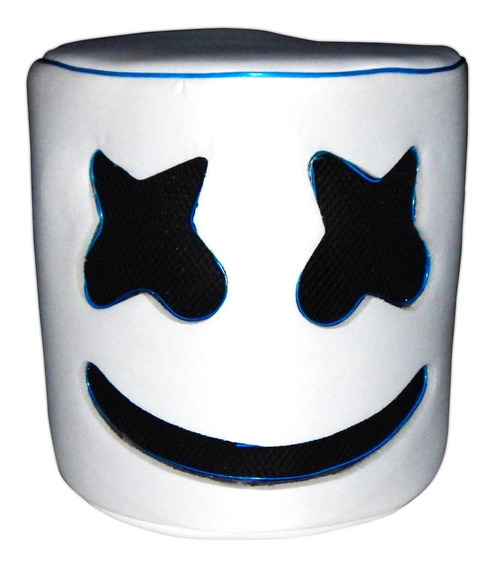 Casco Cabeza Mascara Niños Luz Led Marshmello Marshmallow Az