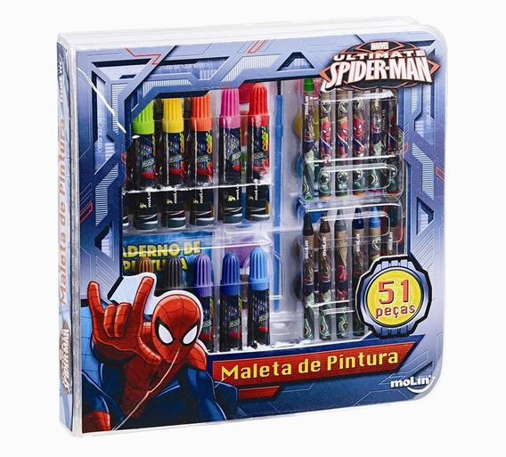 Maleta De Pintura Square Spiderman - 51 Peças