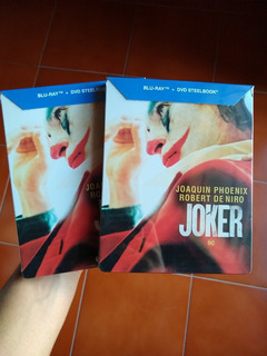 Joker Guasón Blu-ray Dvd Steelbook Joaquin Phoenix Nuevo