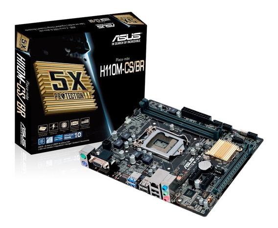 Placa Mãe Asus H110m-cs/br Ddr4 Lga1151 Micro Atx Intel H110