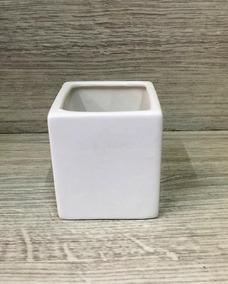 Kit 14 Vasos Cerâmica Branco Mini Para Plantas